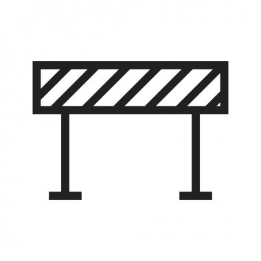 Barrier, road sign Icon