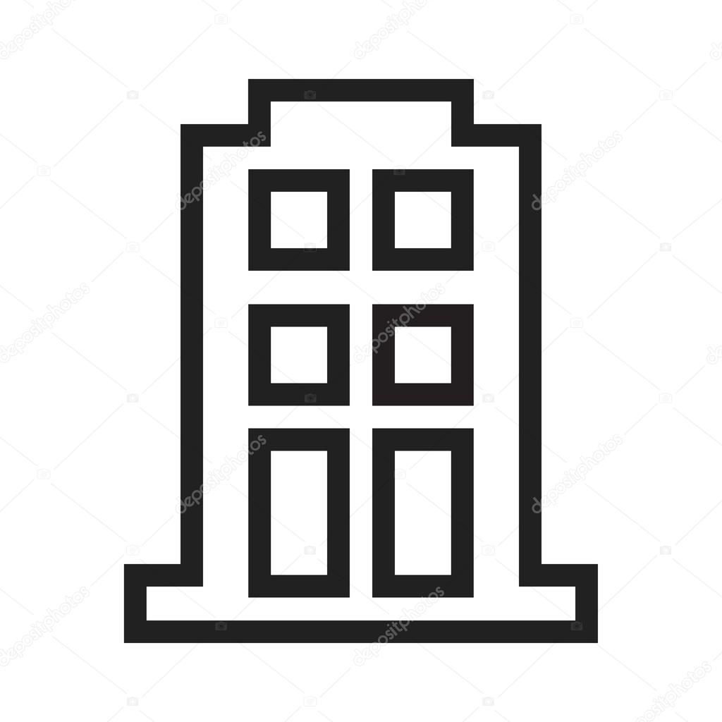 Apartment Building Icon Stock Vector C Dxinerz