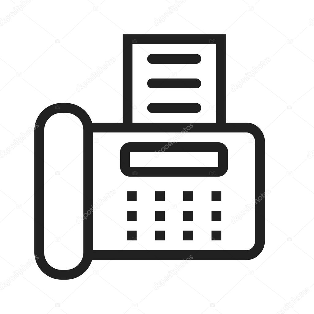 Fax Machine Icon — Stock Vector © dxinerz #77358390