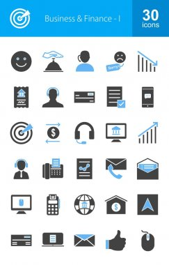 Business and Finance icons set