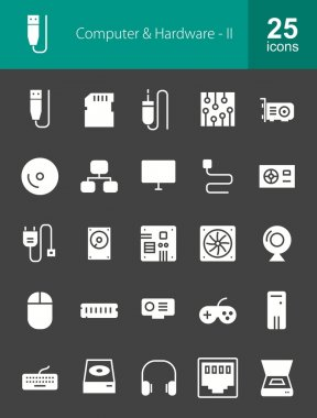 Computer and Hardware icons set