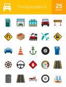 Transportation, travel icons set