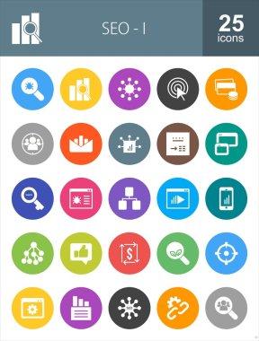 SEO and Digital Marketing icons set