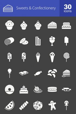 Sweets and Confectionery icons set