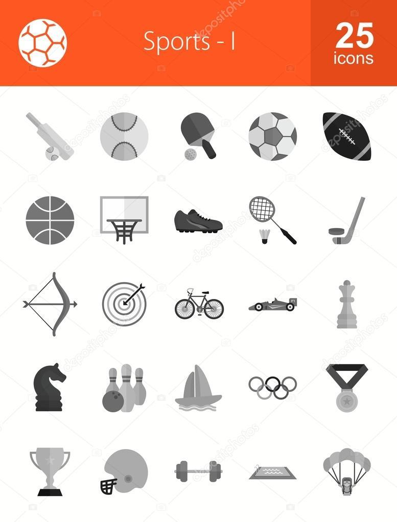 dbd8c5efb conjunto de ícones de esportes e fitness — Vetor de Stock © dxinerz ...
