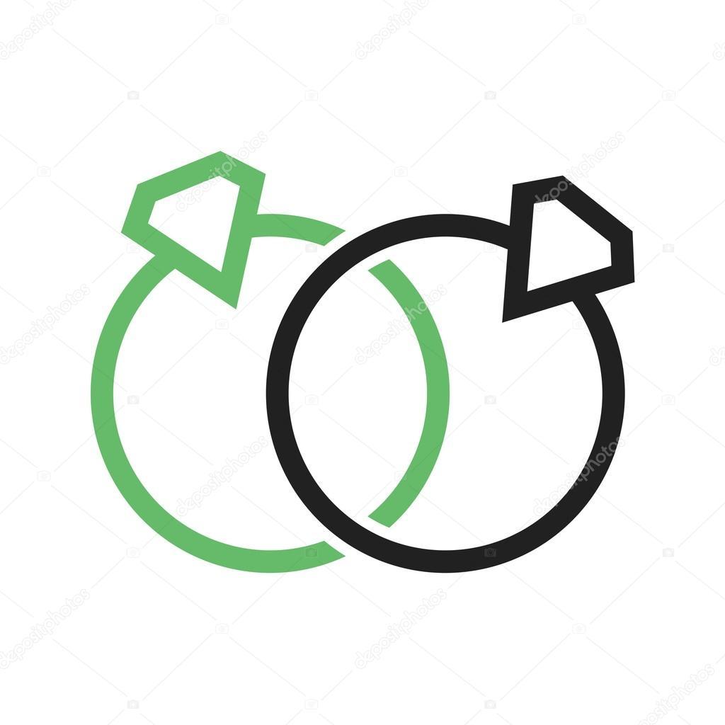 Zwei Ringe Hochzeit Symbol Stockvektor C Dxinerz 83835484
