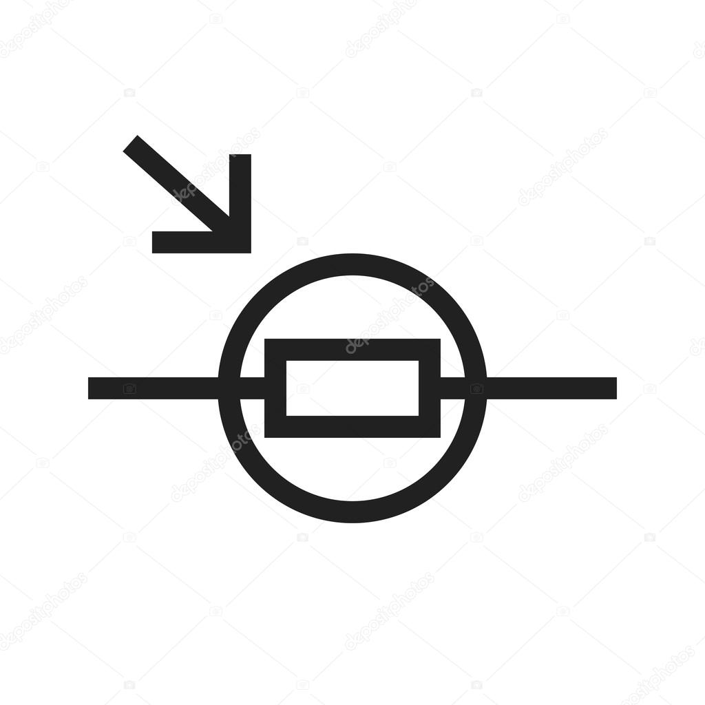 Light Dependent Resistor Stock Vector Dxinerz 98026358 Application Circuit Icon Image Can Also Be Used For Electric Circuits Suitable Use On Web Apps Mobile And Print Media By