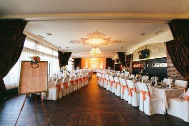 Elegant luxury wedding reception table