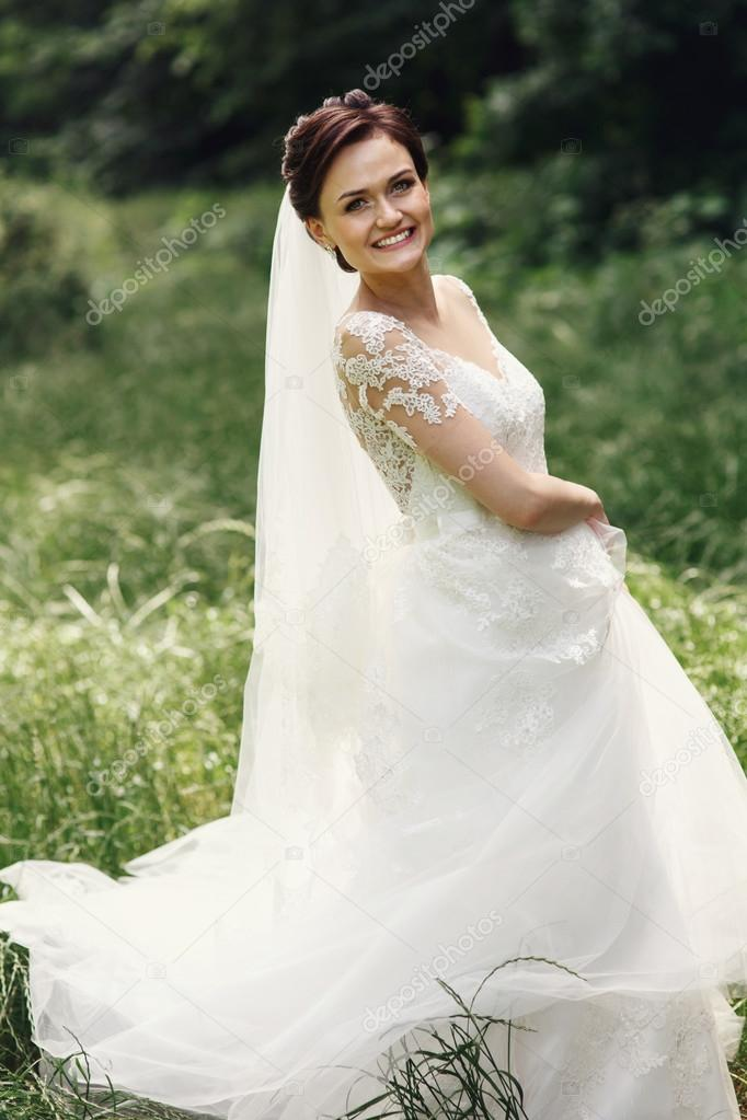 Gorgeous princess bride — Stock Photo © olexiysyrotkin #122558492