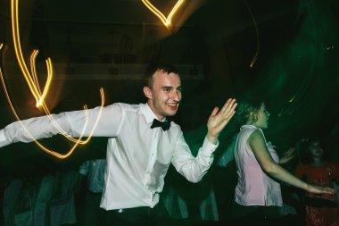 Goom dancing at wedding reception