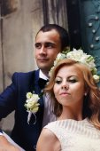 Fotografie portrait of bride and groom
