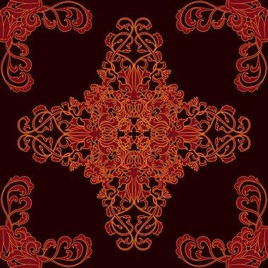 Buddhist seamless thai pattern vector art