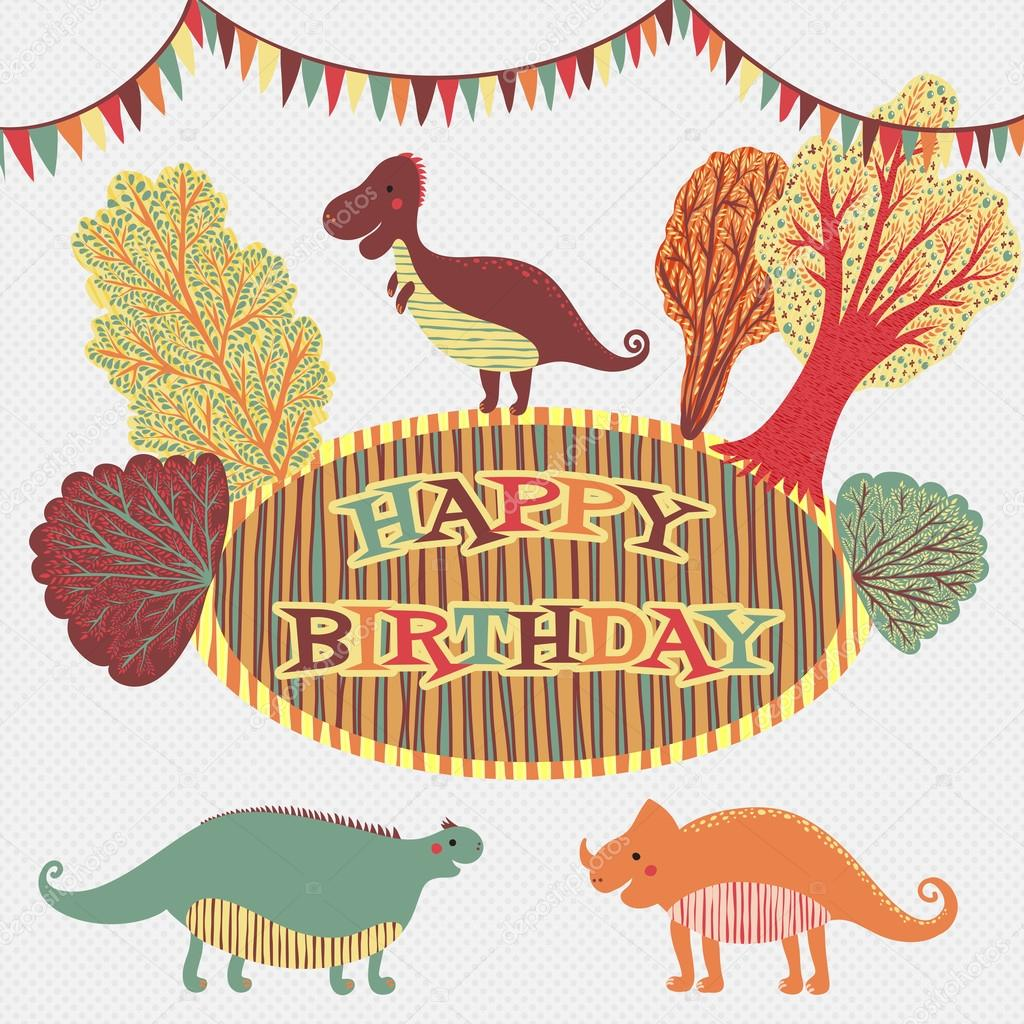 mooie gelukkige verjaardagskaart in vector zoete inspirerende kaart