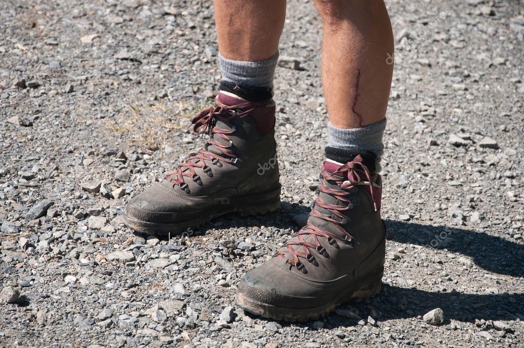 Hiker in nature, Salzburger Land, Alps, Austria