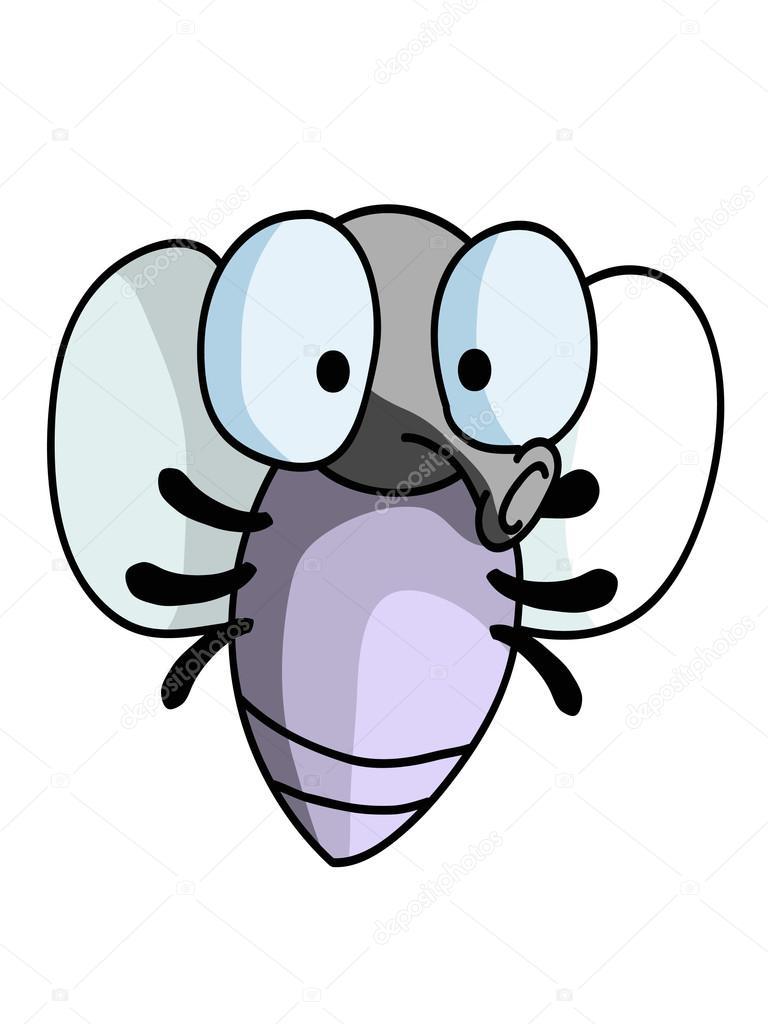 mosca pequeña Linda de la historieta — Vector de stock ...