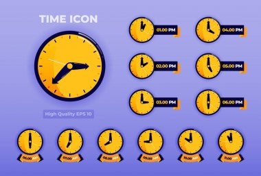 Time Icon illustration with 3d flat style. time icon pack. Logo design for landing page, banner, website, web, poster, mobile apps, ui ux, homepage, social media, flyer, brochure icon