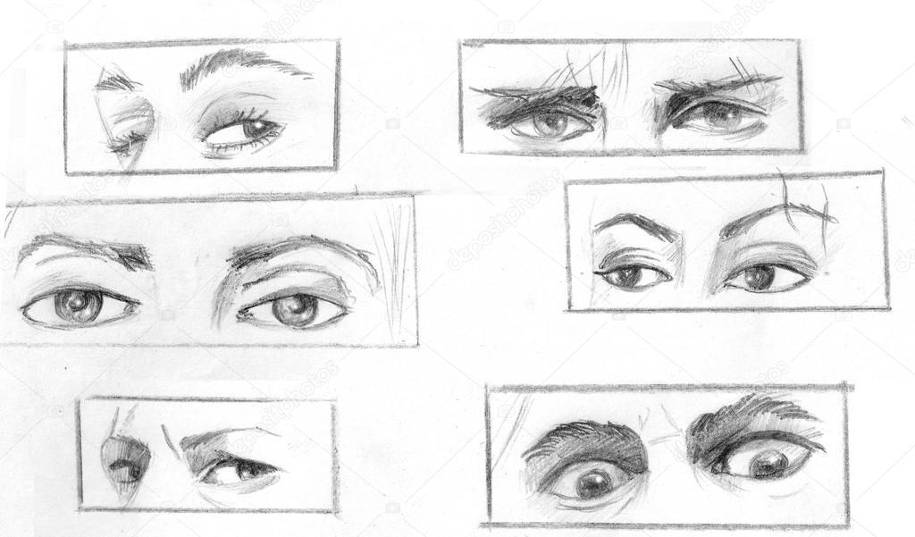 Establecer diferentes formas y expresiones que implican los ojos ...
