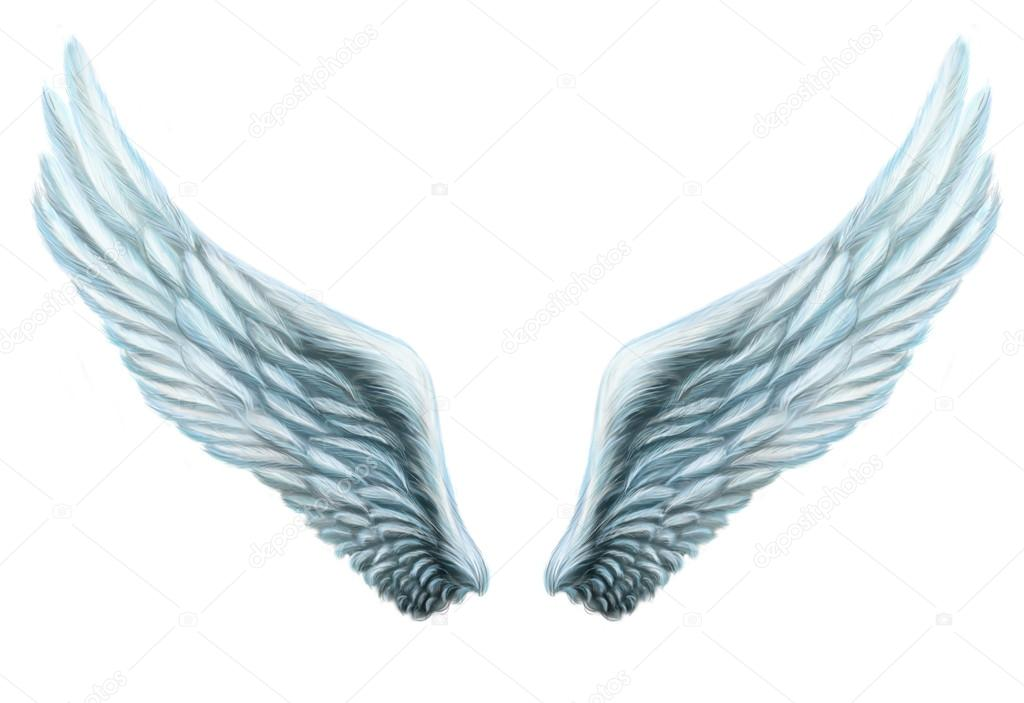 Andělská křídla. Vnitřní bílá křídla peří. Izolace. fantazie — Stock ... f72ce5fead