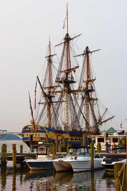 Hermione, a famous replica of La Fayette Frigate stopped in Alexandria, Virginia.