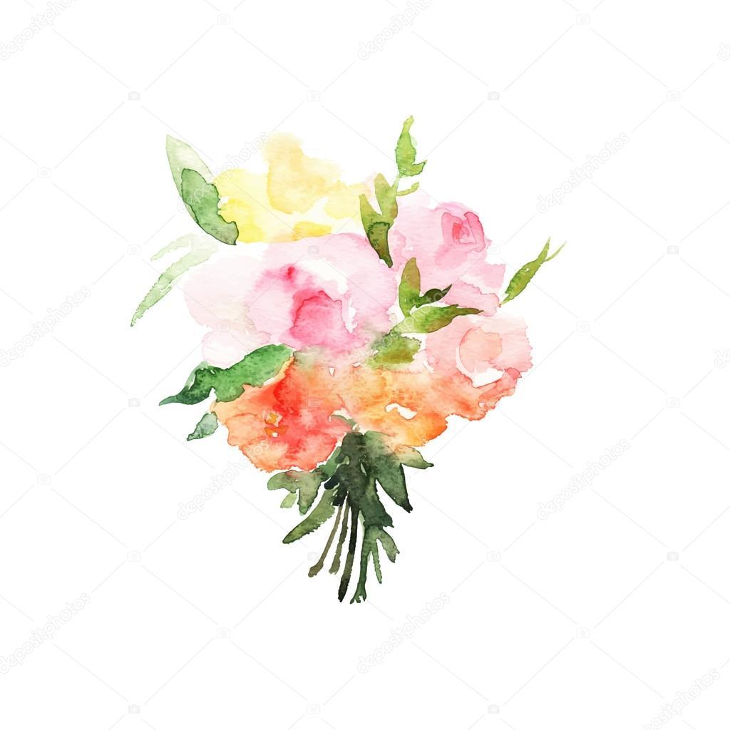 Watercolor floral Texture