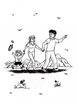 Happy Family walking (2007)