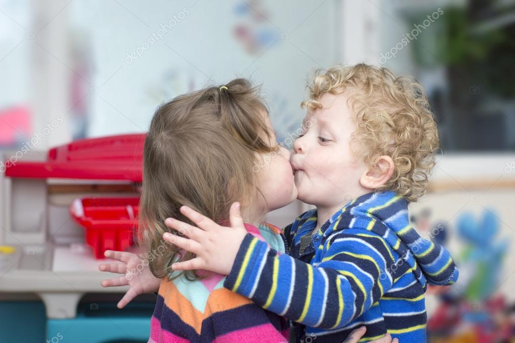 Little boy kiss a little girl stock photo agephotography 72862903 little boy kiss a little girl stock photo altavistaventures Images
