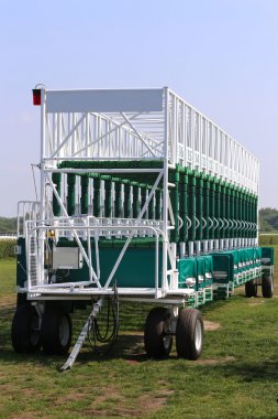 Starting gates at a racetrack