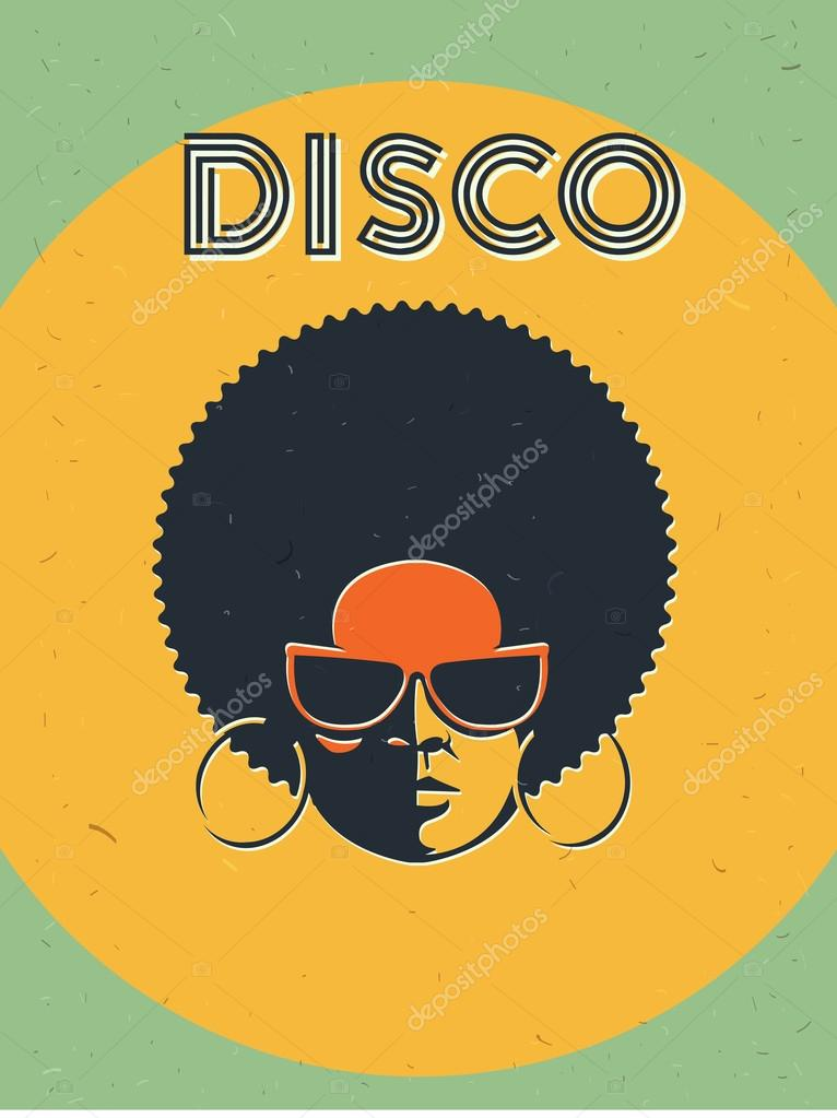 disco party event flyer creative vintage poster vector retro style