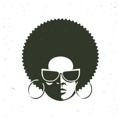 Front view portrait of a black woman face