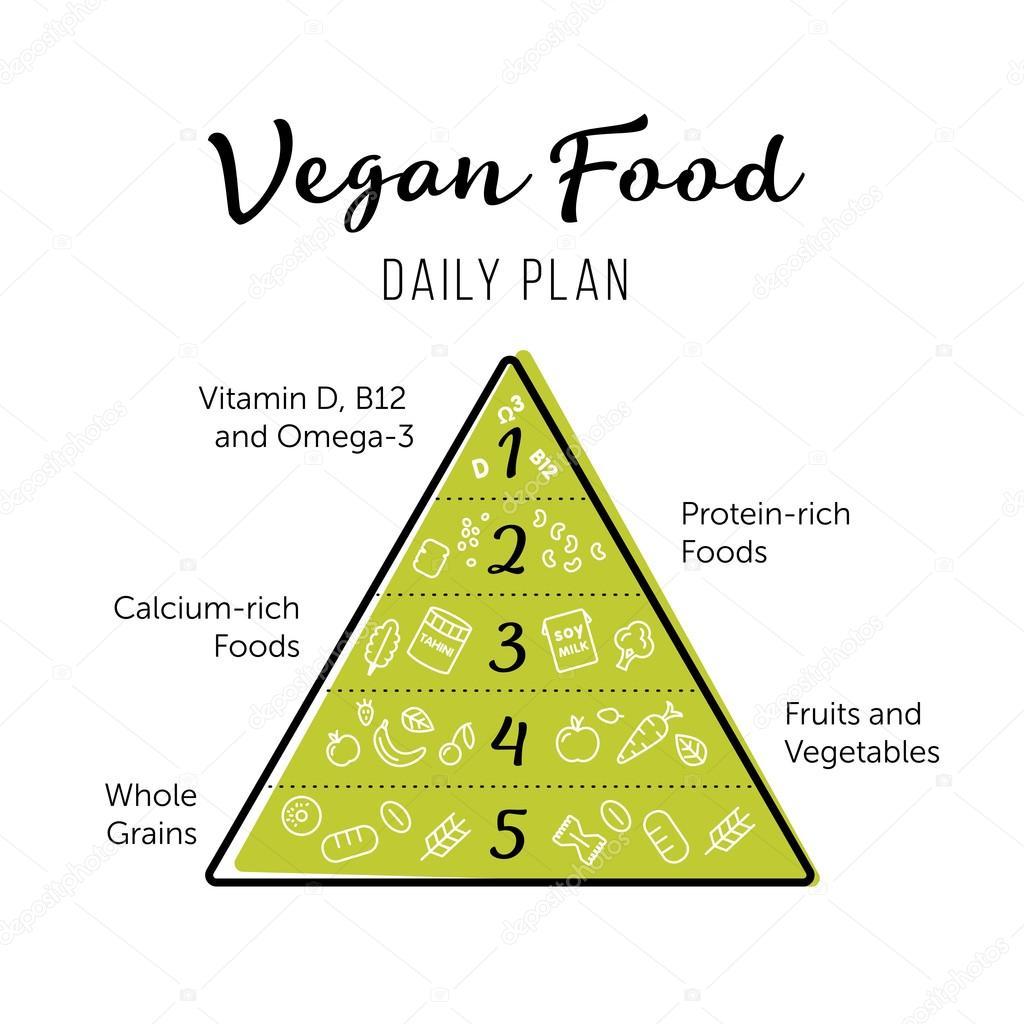 Pirámide alimenticia vegana saludable comer infografía ...