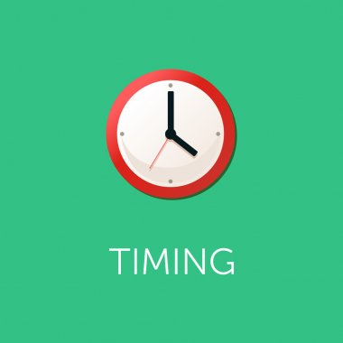 Flat design concept for time management, targeting, work planning and timing.