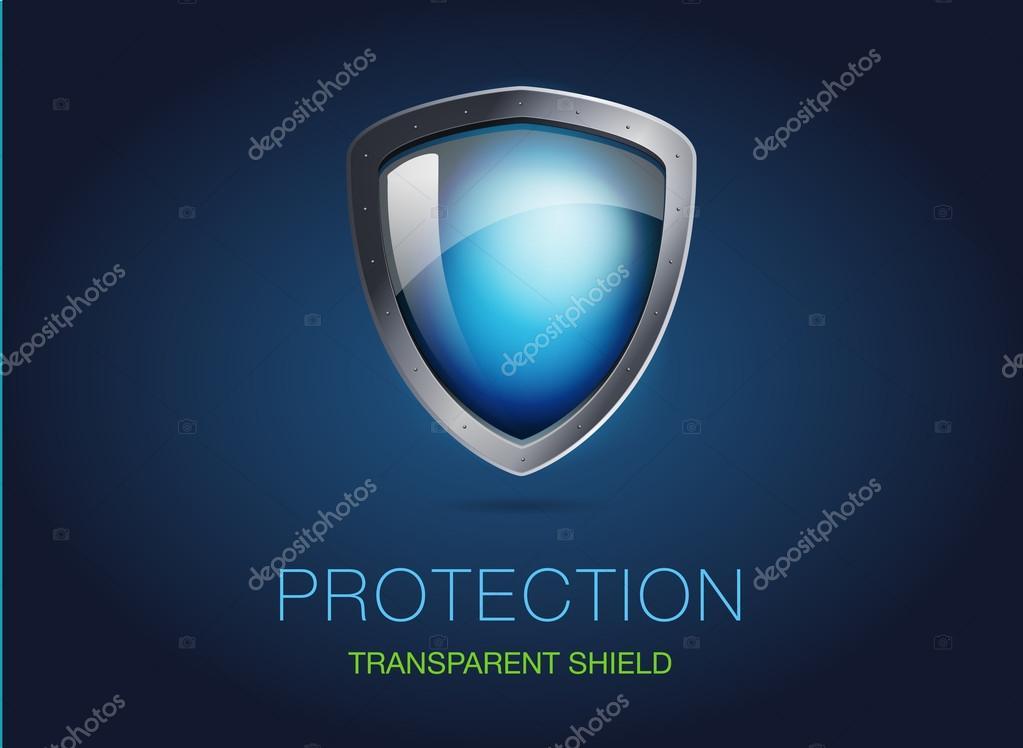 Escudo de metal realista con transparente cristal blindado ilustraci n de vector de una - Precio cristal blindado ...