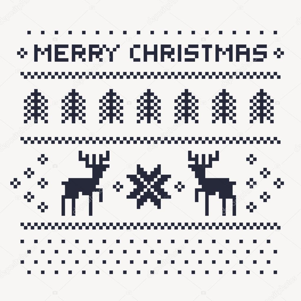 patrón de invierno de Navidad imprimir jersey o camiseta. Ciervos de ...