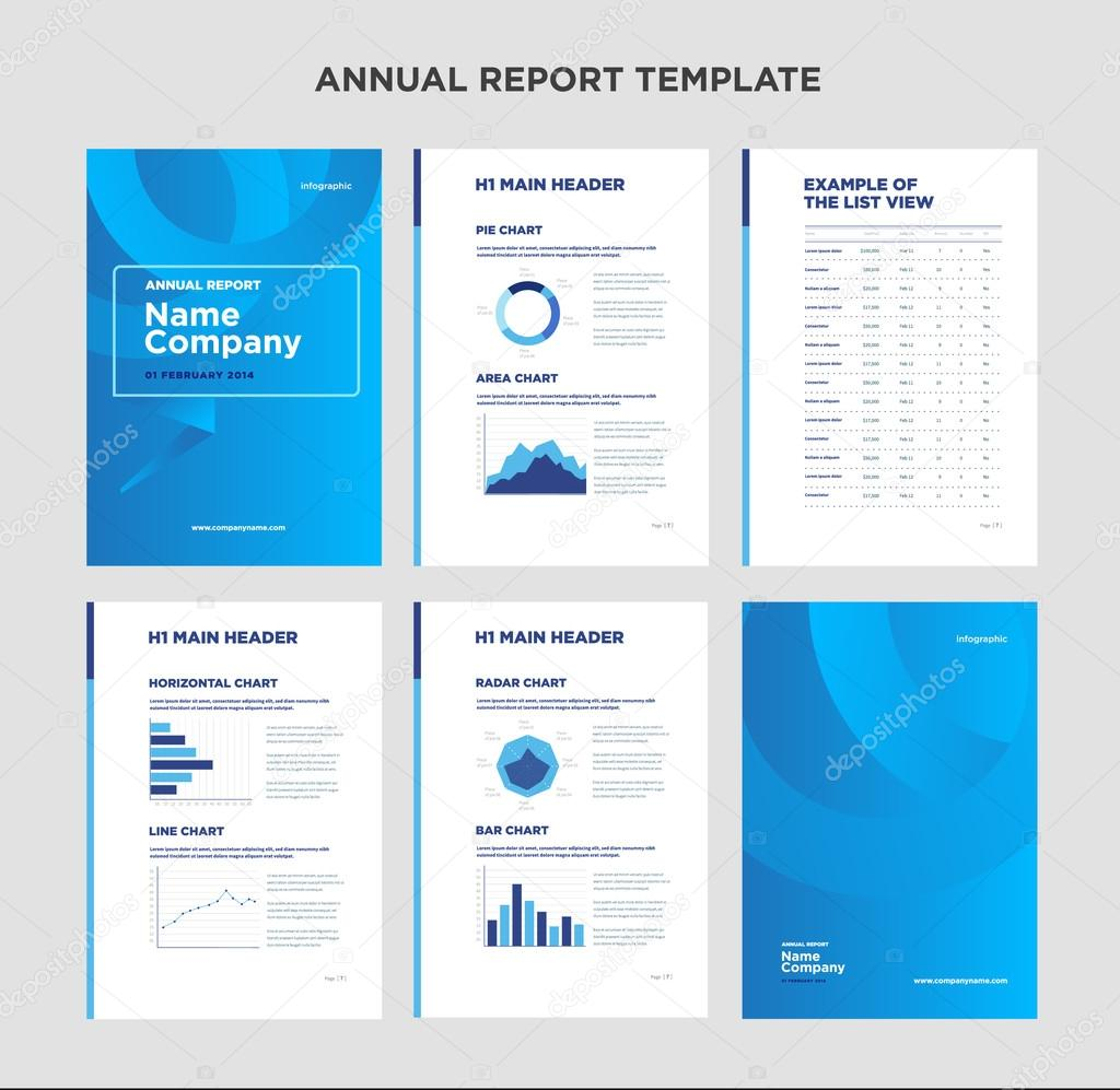 Plantilla de informe anual moderno con diseño de cubierta e ...