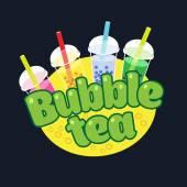 Bubble Tea koncept loga
