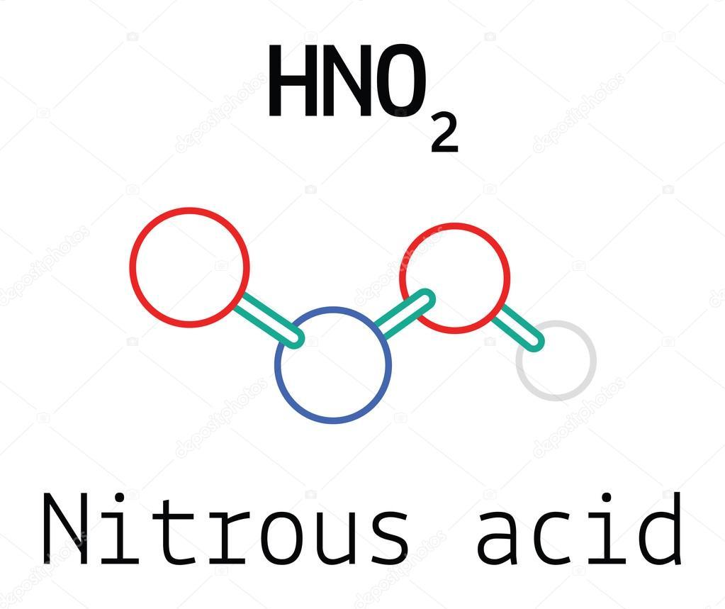 hno2 nitrous acid molecule stock vector mariashmitt 115266580