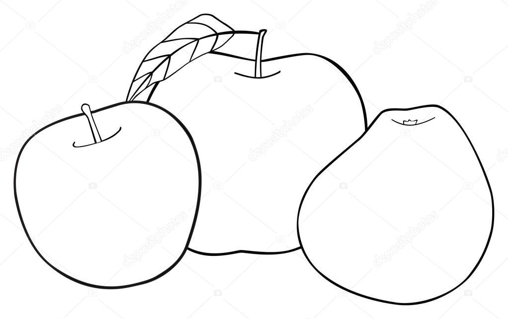 Hojas de manzana para colorear | Precioso jardín - conjunto de tres ...