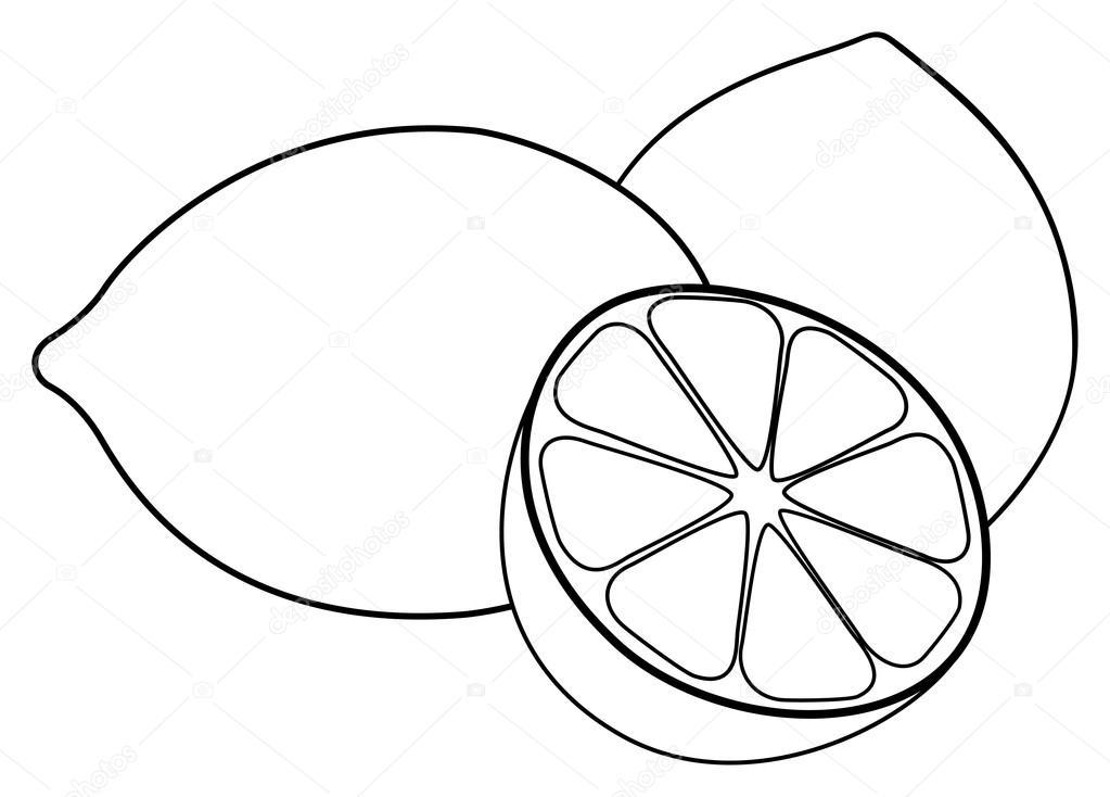 Precioso jardín - dos limones y un limón medio — Archivo Imágenes ...