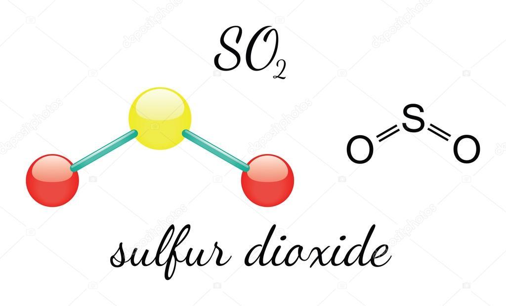 So2 Sulfur Dioxide Molecule  U2014 Stock Vector  U00a9 Mariashmitt