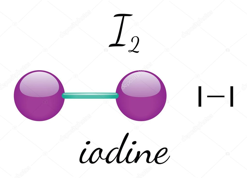 I2 Iodine Molecule U2014 Stock Vector U00a9 Mariashmitt 98553844 Manual Guide