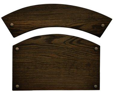 Wooden nameplate stock vector