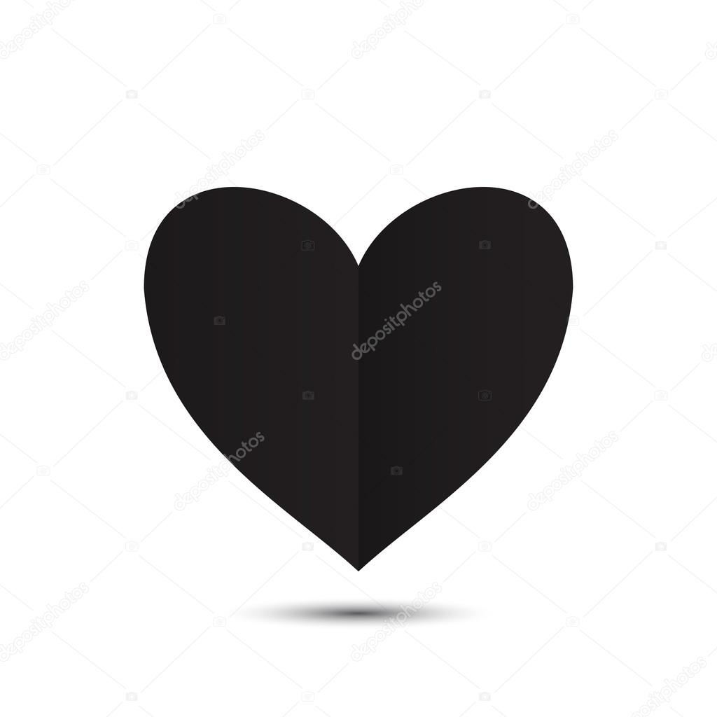 Sfondo Cuoricini Neri Cuore Nero Su Sfondo Bianco Vettoriali