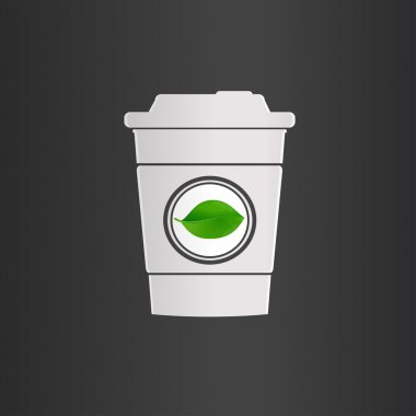 A single cup of tea, logo icon.