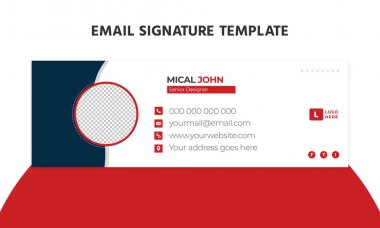 Email signature template or email footer and personal social media cover design icon