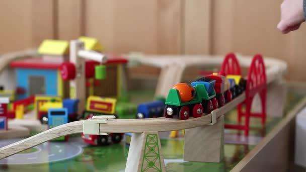 Wooden Toy Train Stock Video Jakerbreaker 70513023