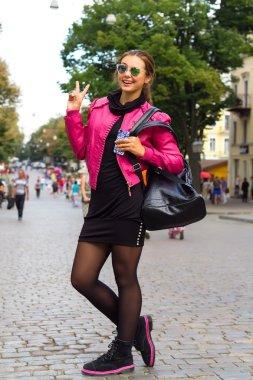 Autumn fashion full leght portrait