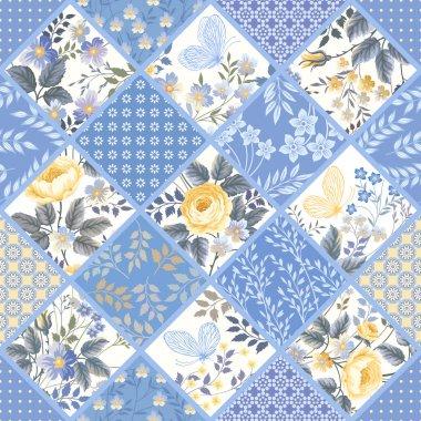 Seamless patchwork pattern
