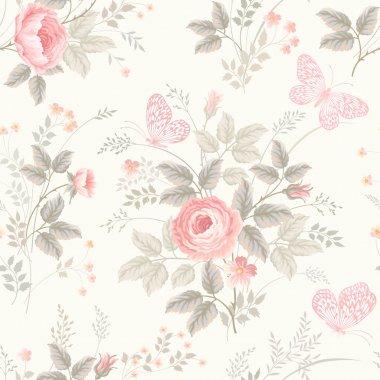 "Картина, постер, плакат, фотообои ""seamless floral pattern"", артикул 79944606"