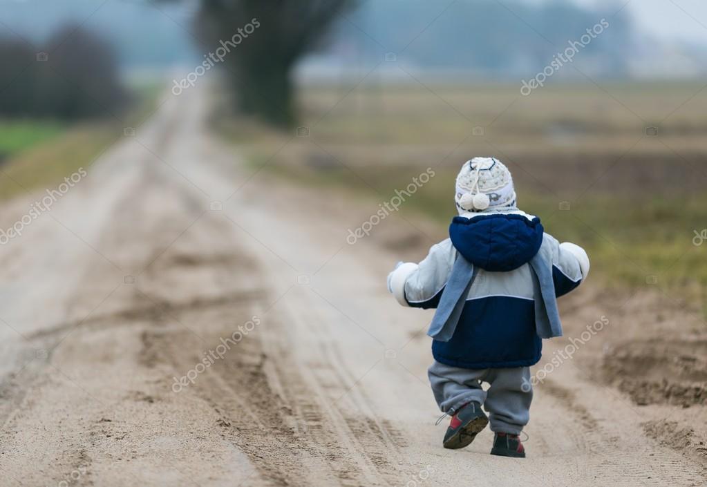Toddler walking