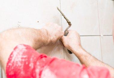 construction mason man hands